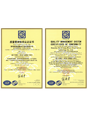 KZT-ISO9001 Quality Management System Certification