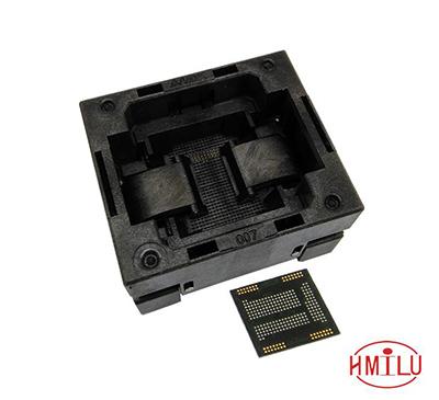 eMCP221 TOP-OPEN down press socket adapter