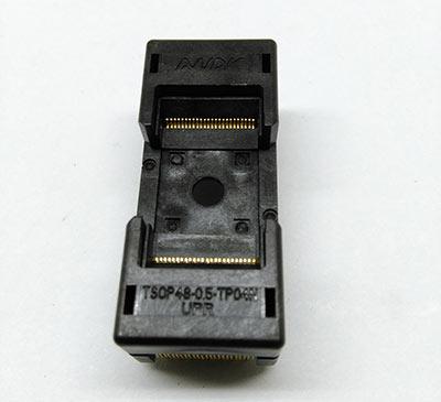 TSOP48 Long Open Top Burn in Socket Pin Pitch 0.5mm IC Test Sock