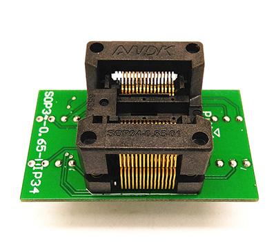 SSOP24(34)-0.65 SSOP24 TSSOP24 to DIP24 Programming Socket