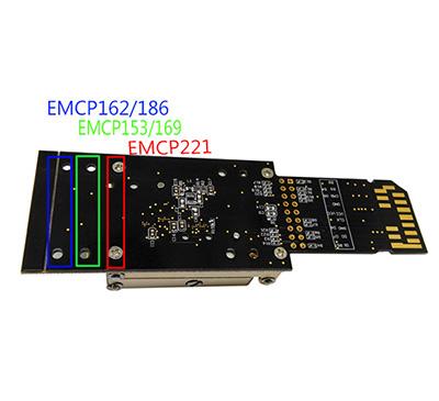 3 IN 1 eMMC153/169 eMCP162/186 eMCP221 alloy Pogo Pin Test  Sock