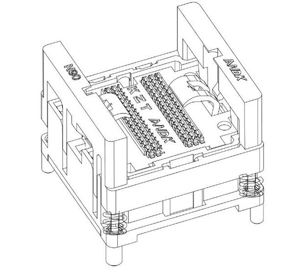 DDR2-0.8-60pin Burn in Test Socket Ball Pin Pitch 0.8mm DDR DIMM