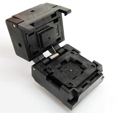 QFN60 0.4 8*8clamshell burn in socket